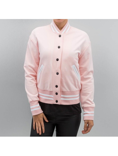 Sixth June Damen College Jacke Parisiennes Teddy in rosa