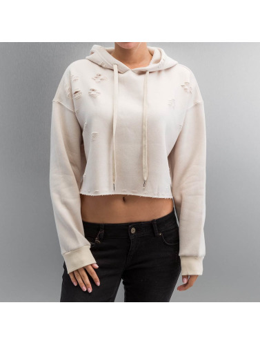 Sixth June Damen Hoody Destroyed in beige