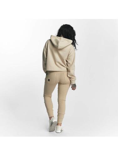Sixth June Damen Hoody Classic Oversize Cropped in beige