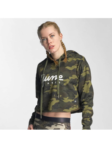 Sixth June Damen Hoody Classic Oversize Cropped in camouflage