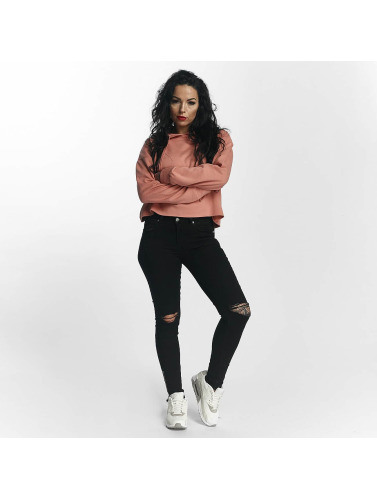 Sixth June Damen Hoody Classic Oversize Cropped in rosa