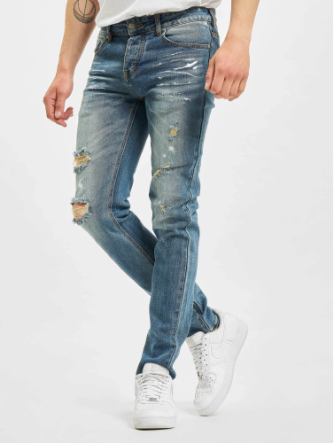 Sixth June Hombres Jeans ajustado Destroyed Washed in azul