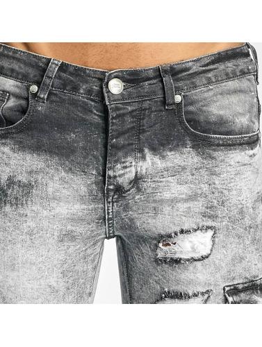 Sixth June Hombres Jeans ajustado Biker Cargo in gris