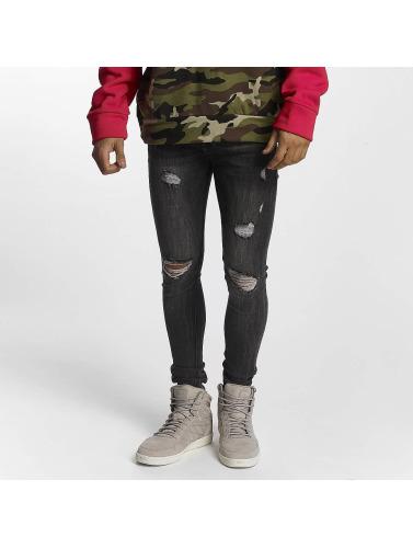 Sixth June Hombres Jeans ajustado Classic in gris