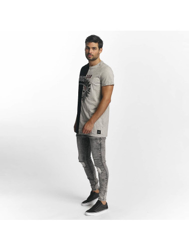 Sixth June Hombres Jeans ajustado Classic Slimfit in gris