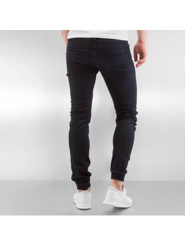 Sixth June Hombres Jeans ajustado Destroyed in negro