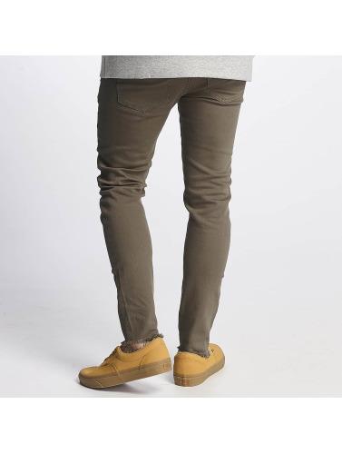 Destroyed Jeans in Sixth Knee Hombres oliva ajustado June qx7vU