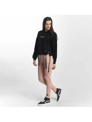 Sixth June Mujeres Jersey Lace in negro