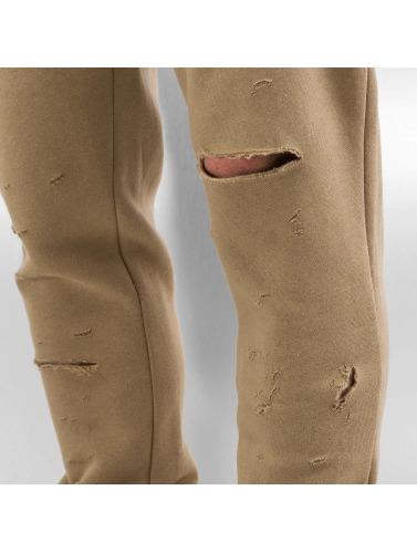 Sixth June Herren Jogginghose Destroyed Slim Fit in beige