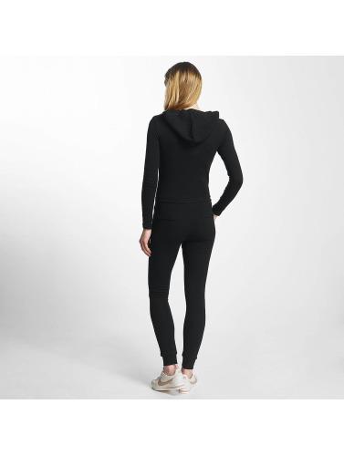 Sixth June Damen Jumpsuit Hooded Longsleeve in schwarz