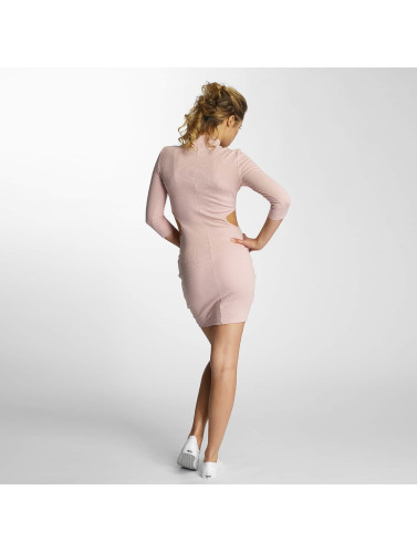 Sixth June Damen Kleid Sexy Ribbed in rosa