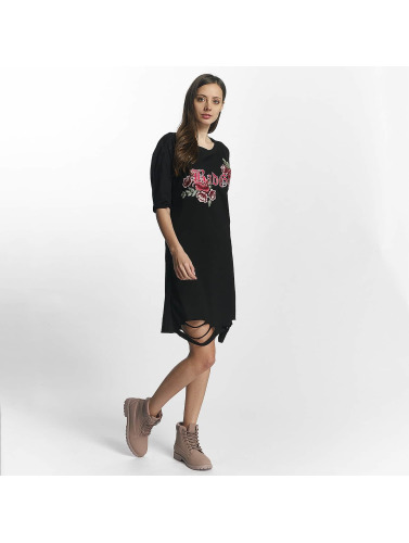 Sixth June Damen Kleid Destroyed Roses in schwarz