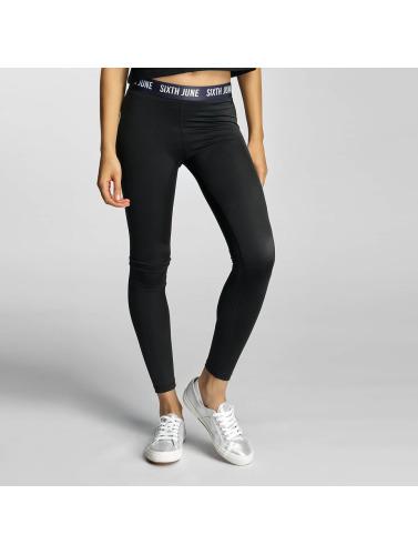 Sixth June Damen Legging Logo in schwarz