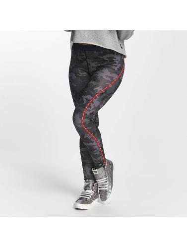 Sixth June Damen Legging Sport Camou in schwarz