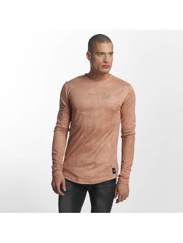 Sixth June Herren Longsleeve Skinny Basic in rosa
