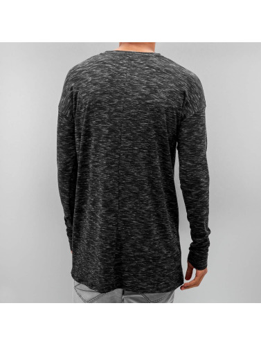 Sixth June Herren Longsleeve Ripped in schwarz