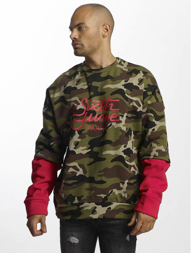 Sixth June Herren Pullover Double Sleeve in camouflage