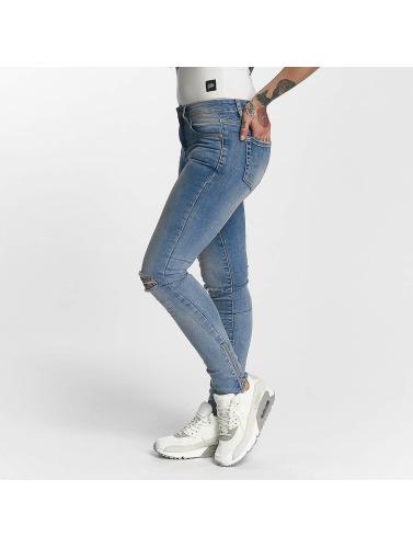 Sixth June Damen Skinny Jeans Destroyed in blau