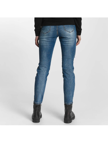 Sixth June Damen Skinny Jeans Basic in blau