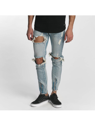 Sixth June Herren Skinny Jeans Destroyed in blau