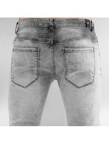 Sixth June Herren Skinny Jeans Radge Biker in grau