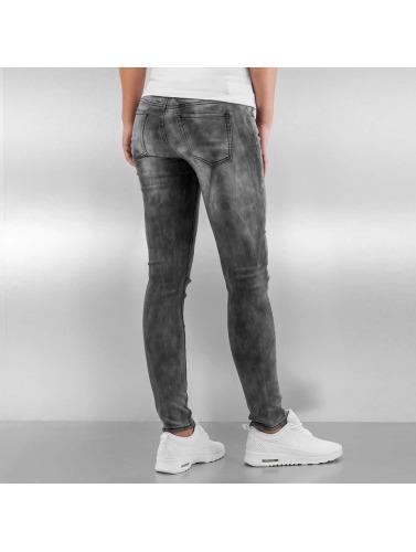 Sixth June Damen Skinny Jeans Tie and Dye in grau
