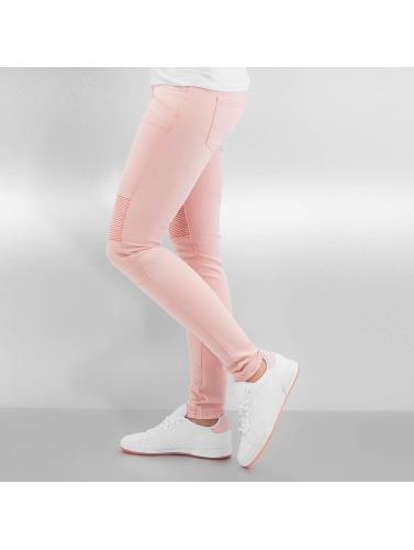 Sixth June Damen Skinny Jeans Biker in rosa