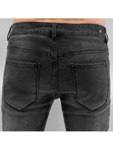 Sixth June Herren Skinny Jeans Biker in schwarz