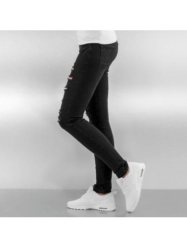 Sixth June Damen Skinny Jeans Destroyed in schwarz