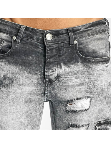 Sixth June Herren Slim Fit Jeans Biker Cargo in grau