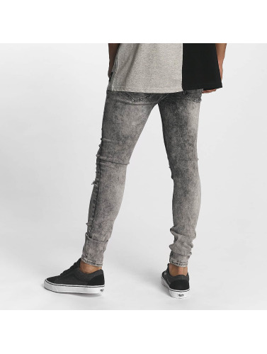 Sixth June Herren Slim Fit Jeans Classic Slimfit in grau