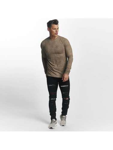Sixth June Herren Slim Fit Jeans basic Slimfit in schwarz