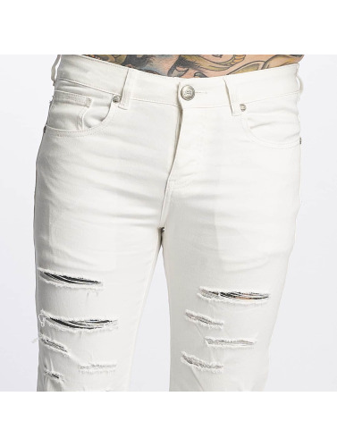 Sixth June Herren Slim Fit Jeans Basic in weiß