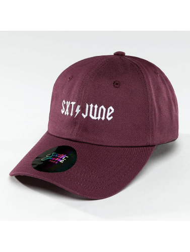 Sixth June Snapback Cap Logo in violet