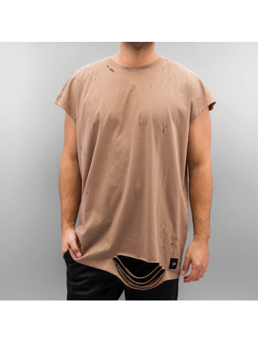 Sixth June Herren T-Shirt Destroyed Muscle in beige