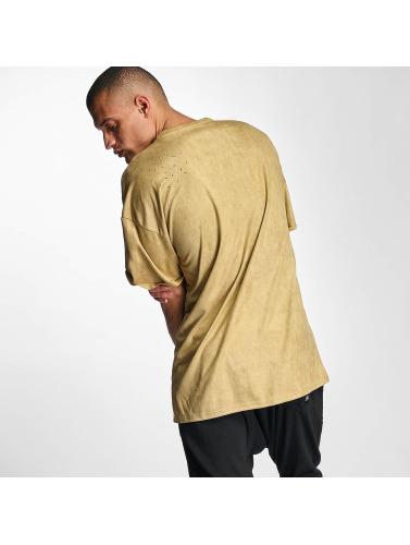 Sixth June Herren T-Shirt Destroyed Overside Suede in beige