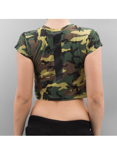 Sixth June Damen T-Shirt Cropped in camouflage