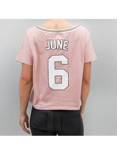 Sixth June Damen T-Shirt Cropped in rosa