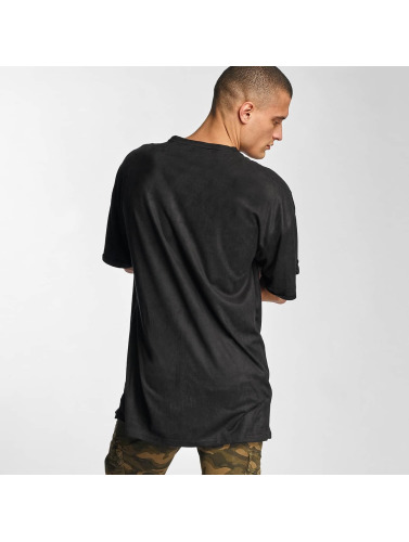 Sixth June Herren T-Shirt Destroyed Overside Suede in schwarz