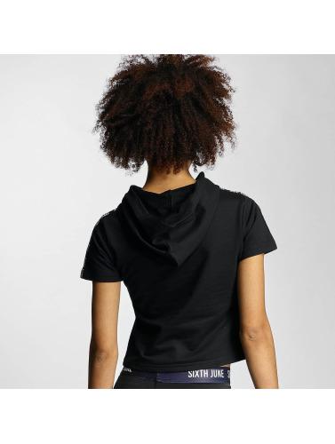 Sixth June Damen T-Shirt Hooded in schwarz Rabatt Footaction MB5UwBi