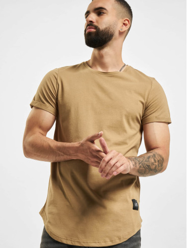 Sixth June Herren Tall Tees Rounded Bottom in beige