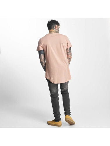 Sixth June Herren Tall Tees Rounded Bottom in rosa