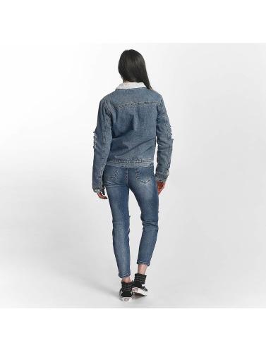 Sixth June Damen Übergangsjacke Jeans Sherpa in blau Qualität Aus Deutschland Großhandel Auslass Sast udPwp0B