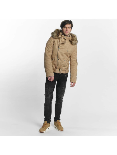 Sixth June Herren Winterjacke Puffa Perfecto in beige