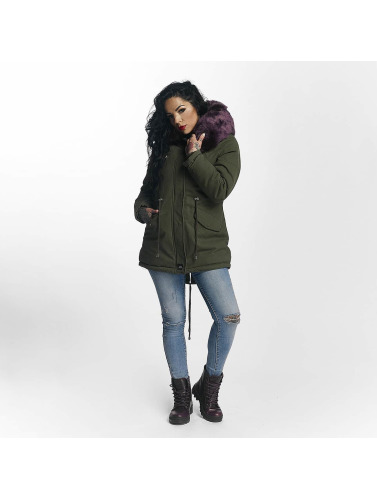 Sixth June Damen Winterjacke Ultra Oversize in khaki