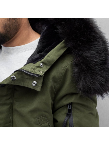 Sixth June Herren Winterjacke Fur in olive