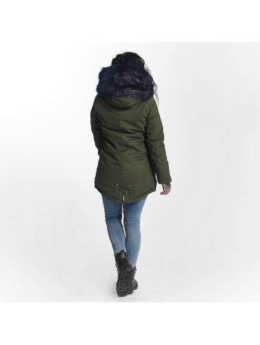 Sixth June Damen Winterjacke Ultra Oversize in olive