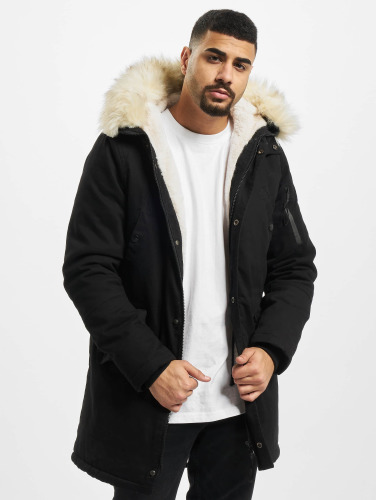 Sixth June Herren Winterjacke Fur in schwarz