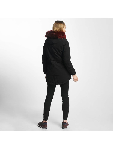 Sixth June Damen Winterjacke Oversize With Fake Fur Hood Classic in schwarz