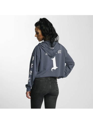 Sixth June Damen Zip Hoodie Ultra Oversized in blau